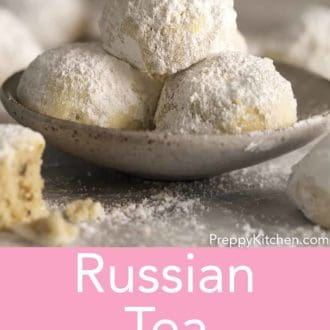 russian tea cakes in a bowl