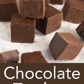 stack of square fudge pieces