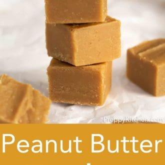 stack of peanut butter fudge