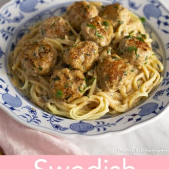 Swedish Meatballs with linguini.