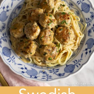 Swedish Meatballs on a plate