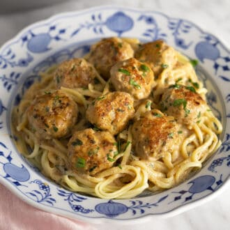 Swedish Meatballs with linguini.