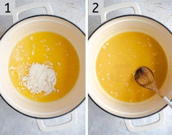 Step photos for making a tuna casserole