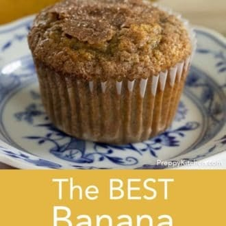 banana muffin on a plate