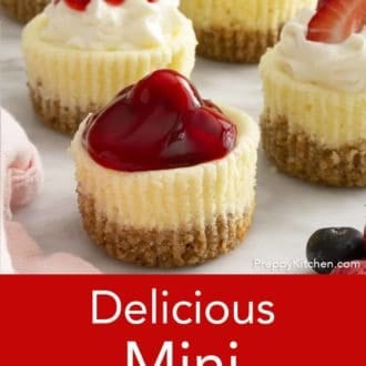 mini cheesecake on a counter