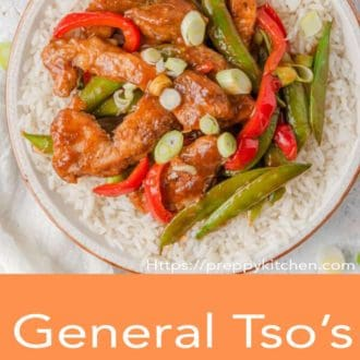 general tso chicken in a bowl