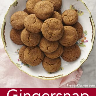 gingersnap cookies sitting on a round platter