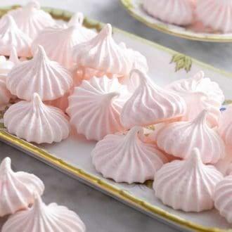 meringue kisses on a tray