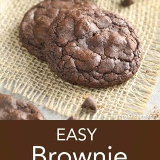 brownie cookies on a mat