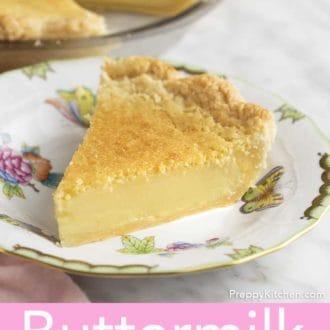 piece of buttermilk pie on a plate
