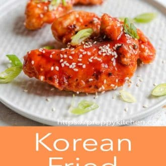 korean fried chicken on a plate