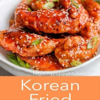korean fried chicken in a bowl