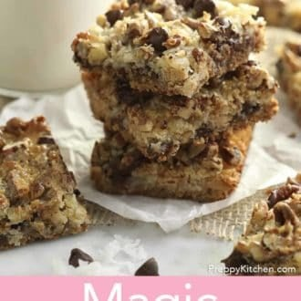 stacked magic cookie bars