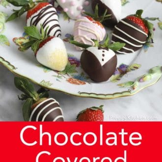 various chocolate covered strawberries with decoration