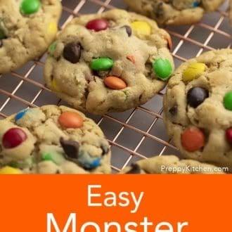 monster cookies on a rack