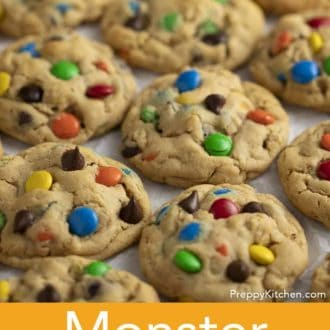 monster cookies on parchment