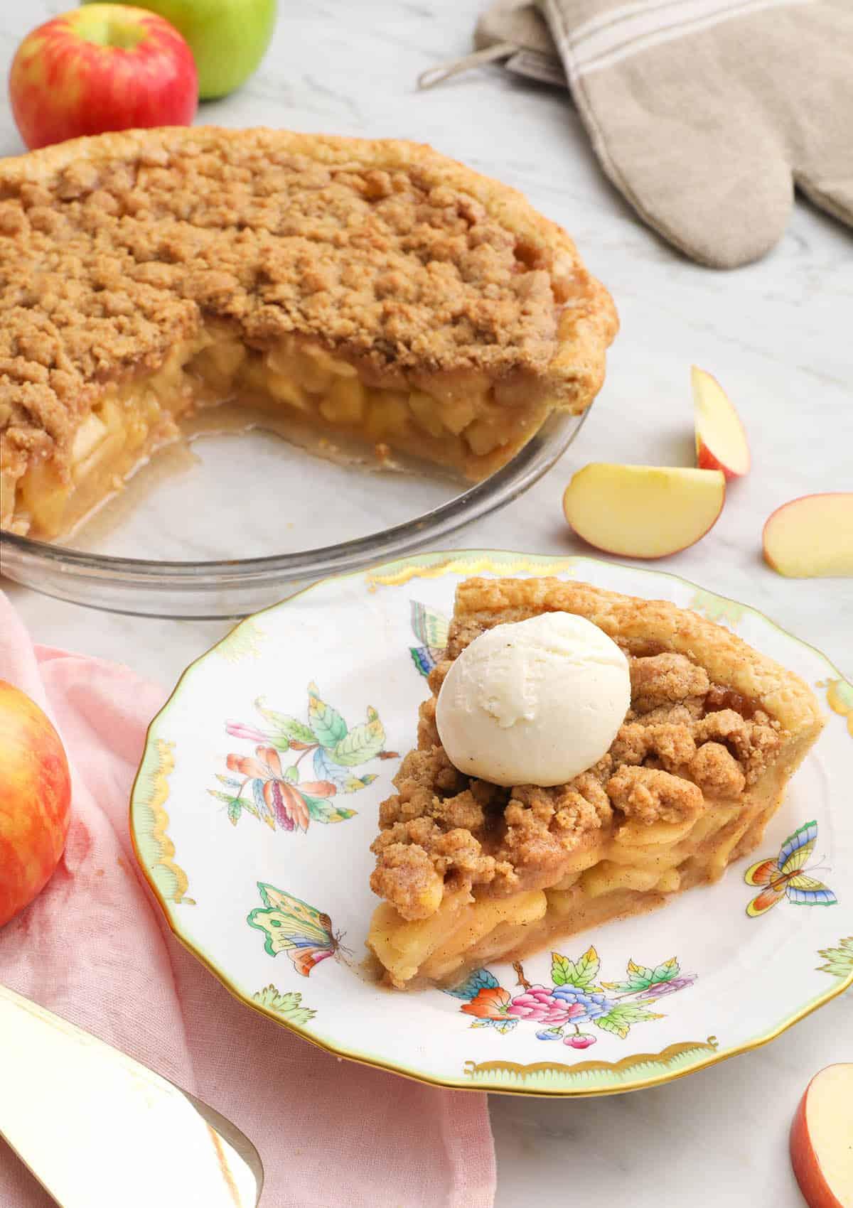 Apple Crumble Pie Preppy Kitchen