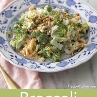 broccoli salad on a plate