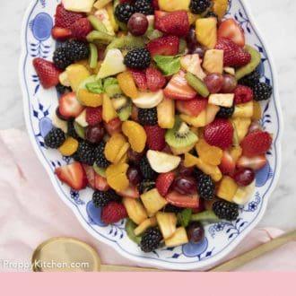fruit salad in a serving bowl
