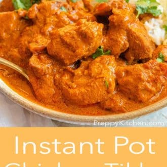 instant pot chicken tikka masala in a bowl