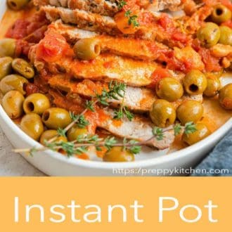 instant pot pork loin on a plate