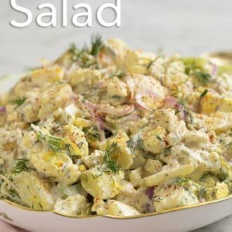 Potato salad with fresh dill.