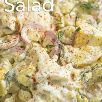 A close-up photo of potato salad