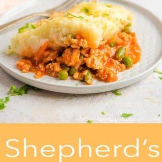 shepherds pie on a plate