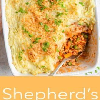 shepherds pie in a casserole dish