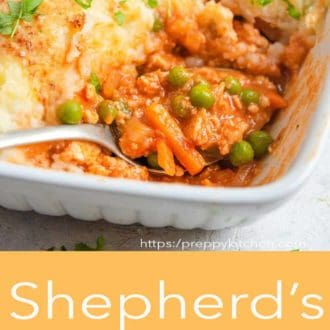 shepherds pie in a casserole dish