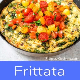 frittata in a pan