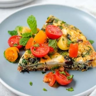 Greek Frittata Square Preppy Kitchen