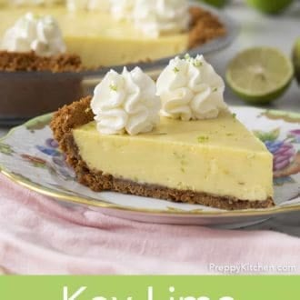 piece of key lime pie on a plate