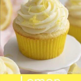 lemon cupcake with lemon frosting