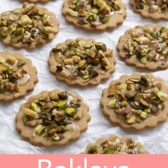 baklava cookies on white paper