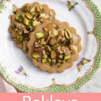baklava cookies on a plate