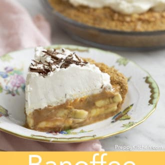 piece of banoffee pie on a plate