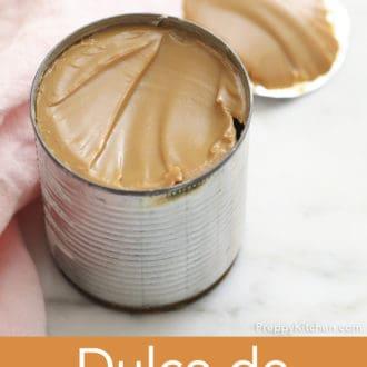 open can of dulce de leche