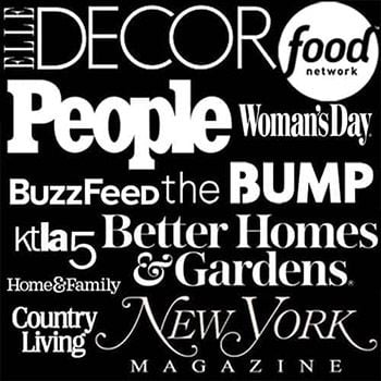 As seen on Elle Décor, People, Food Network and more