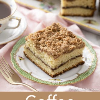 Coffee cake with a streusel topping