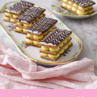 Mille Feuilles on a Herend serving tray.