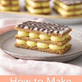 A three layer Mille Feuille.