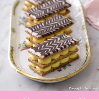 Four amazing Mille Feuille.