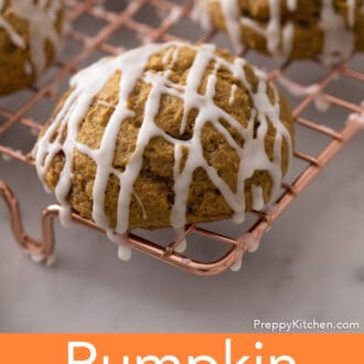 A Pumpkin cookie.