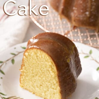 A melt in your mouth rum cake piece.