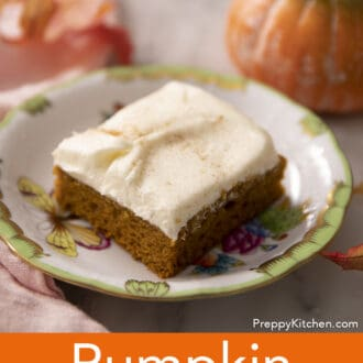 A pumpkin bar on a small plate.