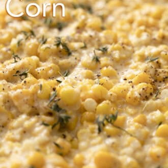 close up of creamed corn