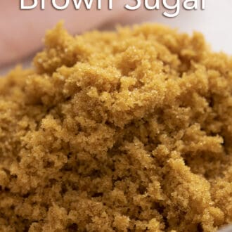 close up photo of brown sugar in a glass bowl