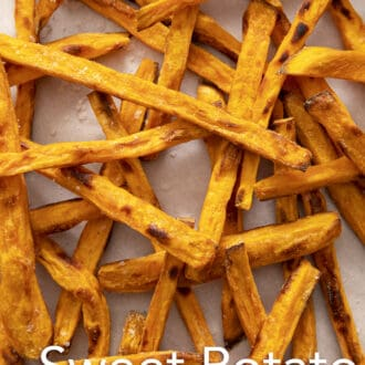 Close up of sweet potato fries