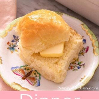 A pinterest graphic of dinner rolls